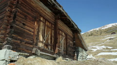 Chalet near Saint-Martin village, Stock Footage