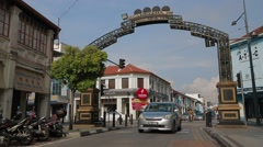 Medan Lebuh Campbell in Penang, Malaysia Stock Footage