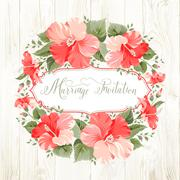 Marriage invitation card Stock Illustration