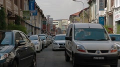Cintra Street in Georgetown, Penang Stock Footage