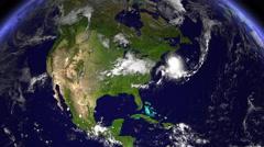 Hurricane Hitting New York At Daytime Stock Footage