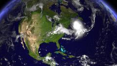 Hurricane Hitting Boston Daytime Stock Footage
