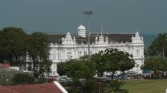 High Angle View of Penang's City Hall Stock Footage