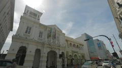 Low Angle to Wide Angle Shot of RBS Bank Building in Georgetown, Malaysia Stock Footage
