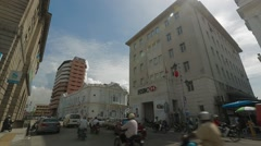 Pan Shot from HSBC Bank to Standard Chartered Bank in Georgetown, Penang Stock Footage