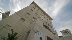 Low Angle of HSBC Building in Georgetown, Penang Stock Footage