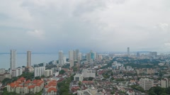 Aerial View of Georgetown, Penang, During the Day Stock Footage