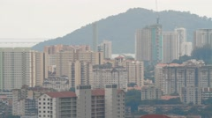High-Rise Buildings in Georgetown, Malaysia Stock Footage