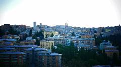 Time-Lapse 4K Italy Umbria Perugia sunrise Stock Footage