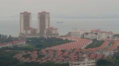 High Angle Shot of Andaman at Quayside Condominium in Penang Stock Footage
