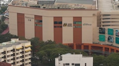 Aerial Shot of Penang's Famous Mall, Plaza Gurney Stock Footage
