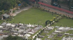 Christian Cemetery in Georgetown, Penang Stock Footage