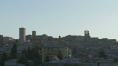 4K Italy Umbria Perugia medieval middle ages old town skyline Stock Footage