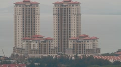 High Angle and Close Up Shot of Andaman At Quayside Condominium in Penang Stock Footage