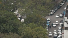 Aerial Shot of Cars on the Streets of Penang Arkistovideo