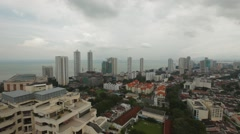 Aerial and Panning Shot of Georgetown, Penang Stock Footage