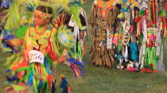 Young boy pow wow dancers Stock Footage