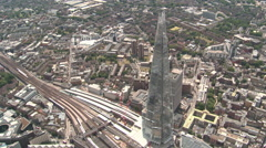 Aerial Shot of The Shard in London - stock footage