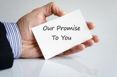 Our promise to you Stock Photos