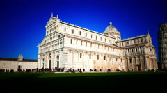 4K Italy Tuscany Toscana Pisa leaning Tower of Cathedral Duomo Stock Footage
