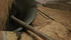 Puffed rice being made the traditional way in Vietnam Stock Footage