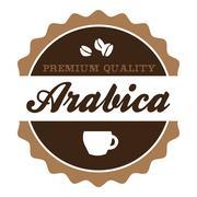 Vintage Arabica Coffee Label Stock Illustration