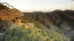 The Balconies, Grampians National Park Stock Footage
