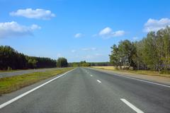 country asphalted highway - stock photo