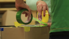 Stock Video Footage of colorful adhesive tape