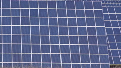 close up of a photovoltaic panel - stock footage