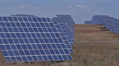 Photovoltaic panels Stock Footage