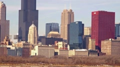 Chicago lakefront skyline - stock footage