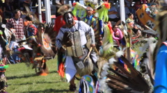 Pow wow multiple dancers Stock Footage