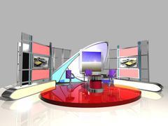 News Studio 005 - 3D model