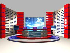 3d model of News Studio 004