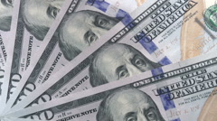 Handling Cash Stock Footage