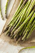 Organic Raw Green Asparagus Stock Photos