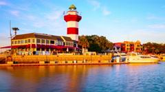 Hilton Head Lighthouse Stock Footage