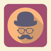 Gentleman flat icon. - stock illustration