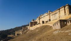 Landscape of Amber Fort in Jaipur - stock photo