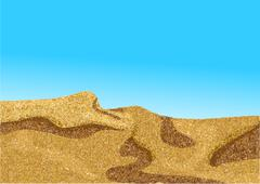 africa desert, coast dune - stock illustration