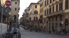 ULTRA HD 4K Traffic street Florence old town people commute architecture travel  Stock Footage