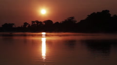 Zambezi early morning 2 Stock Footage