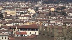 ULTRA HD 4K Beautiful Florence panorama cityscape italian architecture tourism  Stock Footage
