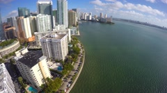Aerial Brickell Bay Drive 4k 3 Stock Footage