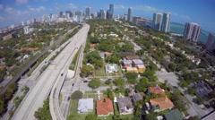 Aerial Brickell and I95 4k Stock Footage