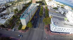 Aerial video Washington Ave 5 Miami Beach 4k - stock footage