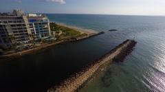 Boca inlet 4k morning sunrise Stock Footage