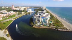 Stock Video Footage of Boca Raton inlet 4k 6