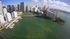 Brickell Key Miami 4k Stock Footage